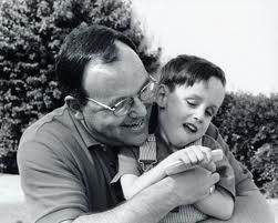 Phillip J. Hardt, with his son, Michael
