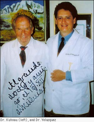 Dr. Kuhnau (left), and Dr. Velazquez